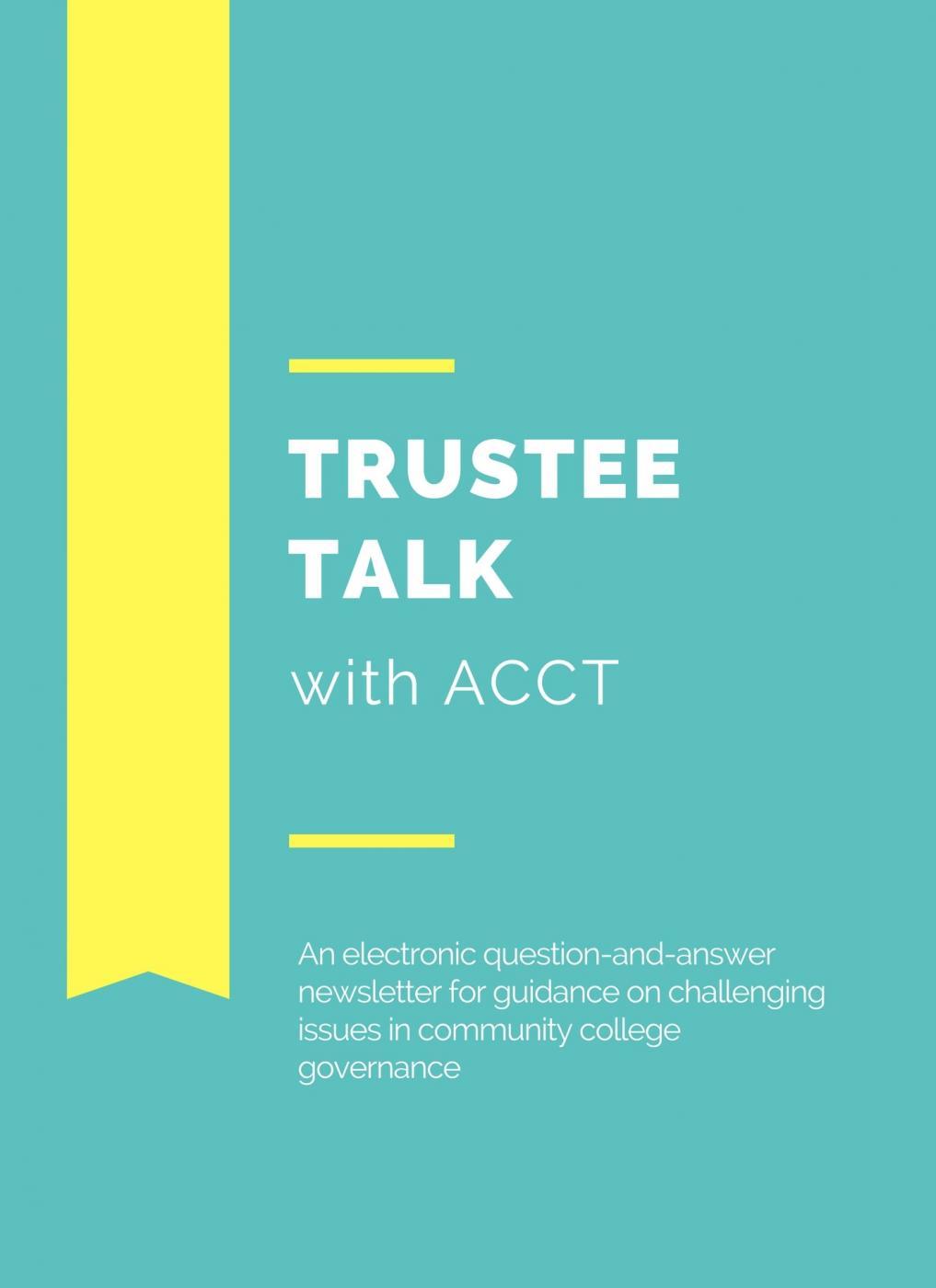 trustee talk